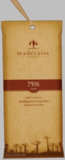 Madecasse Chocolate - Madagascar Dark Chocolate, 75% Cocoa, 75g/2.64oz. (6 Pack)