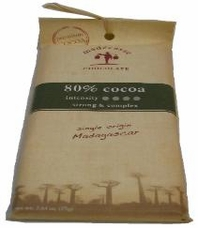 Madecasse Chocolate - Madagascar Dark Chocolate, 80% Cocoa, 75g/2.64oz (12 Pack).