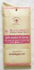 "Madecasse Chocolate ""Pink Pepper & Citrus"", 70% cocoa,  75g/2.64oz. (Single)"