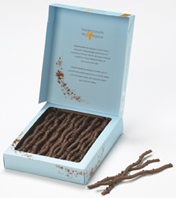 Mademoiselle De Margaux - Chocolate Twigs, Dark Chocolate with Mint, 125g/4.4oz.