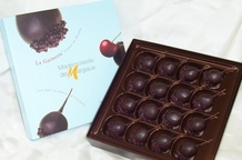 Mademoiselle De Margaux - Dark Chocolate Covered Cherries with Armangac, 190g/6.7oz.