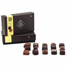 "Michel Cluizel - ""15 Chocolates"" Dark and Milk Gift Box, 165g/5.82oz."