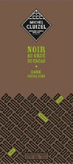 "Michel Cluizel French Chocolate - 63% Cocoa Dark Chocolate with ""Cocoa Nibs"", 100g/3.5oz. (Single)"