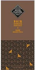 Michel Cluizel French Chocolate - 60% Cocoa Dark Chocolate with Orange Peel, 100g/3.5oz (5 Pack).