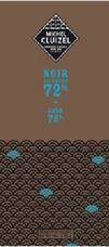 "Michel Cluizel French Chocolate - 72% Cocoa ""Noir De Cacao"" Dark Chocolate, 70g/2.46oz. (5 Pack)"