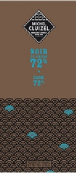 "Michel Cluizel French Chocolate - 72% Cocoa ""Noir De Cacao"" Dark Chocolate, 70g/2.46oz. (20 Pack)"