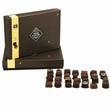 "Michel Cluizel - ""48 Chocolates"" Dark and Milk Gift Box, 525g/18.51oz. (Single)."