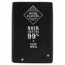 "Michel Cluizel French Chocolate - ""Chocolat Noir Infini"" 99% Cocoa Dark Chocolate, 30g/1.05oz. (Single)."