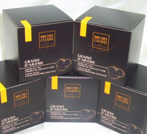 "Michel Cluizel French Chocolate - The ""Grains d'Arome"" Coffee Beans coated with Dark Chocolate, 150g/5.3oz. (Single)."