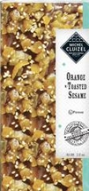 """Michel Cluizel - """"Orange with Toasted Sesame"""" Bar, 55% Cocoa, 2.70oz / 76g."""