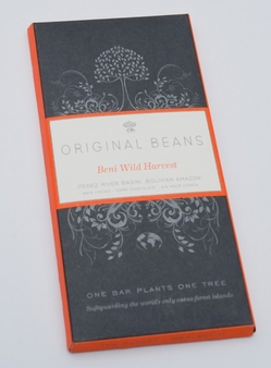 Original Beans Beni Wild Harvest - Bolivia - 66% Darkc Chocolate - 2.46 oz. (6 Pack)