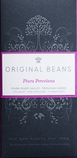 Original Beans Piura Porcelana - Peru - 75% Dark Chocolate - 2.46 oz, (Single)
