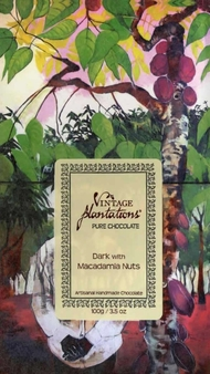 "Plantations Chocolate - 75% Cocoa dark Chocolate with ""Salted Macadamia Nuts"", 100g/3.5oz. (15 Pack)"
