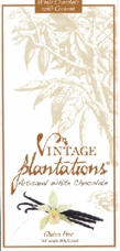 Plantations Chocolate Artisanal White Chocolate with Coconut, 100g/3.5oz