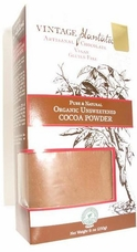 Plantations Natural Cocoa Powder, Organic and Kosher Certified, 250g/9.0oz (Single)