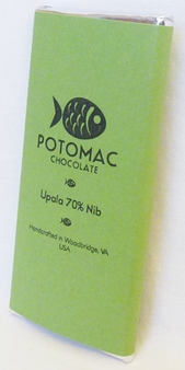 Potomac Chocolate Upala 70% Nib Dark Chocolate, 57g / 2oz (5 Pack)