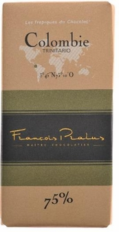 "Pralus French Chocolate - ""Colombie / Columbia - Pure Origin"" Dark Chocolate, 75% Cocoa, 100g/3.5oz. (15 Pack)"