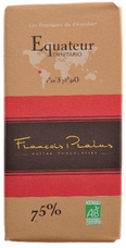 "Pralus French Chocolate - ""Equateur - Pure Origin"" Dark Chocolate, 75% Cocoa, 100g/3.5oz. (Single)"