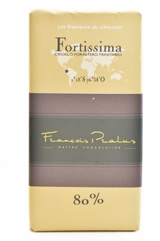 "Pralus French Chocolate - ""Fortissima - Mixed Origin"" Dark Chocolate, 80% Cocoa, 100g/3.5oz. (15 Pack)"