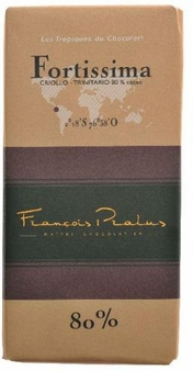 "Pralus French Chocolate - ""Fortissima - Mixed Origin"" Dark Chocolate, 80% Cocoa, 100g/3.5oz. (Single)"