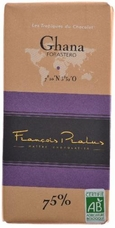 "Pralus French Chocolate - ""Ghana - Pure Origin"" Dark Chocolate, 75% Cocoa, 100g/3.5oz (Single)."