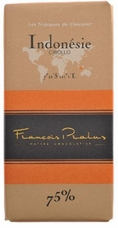 "Pralus French Chocolate - ""Indonesie - Pure Origin"" Dark Chocolate, 75% Cocoa, 100g/3.5oz. (Single)"