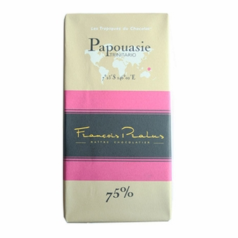 """Pralus French Chocolate - """"Papouasie - Pure Origin"""" Dark Chocolate, 75% Cocoa, 100g/3.5oz (15 Pack)."""