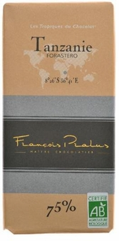 "Pralus French Chocolate - ""Tanzanie - Pure Origin"" Dark Chocolate, 75% Cocoa, 100g/3.5oz. (5 Pack)"