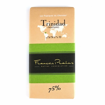 "Pralus French Chocolate - ""Trinidad - Pure Origin"" Dark Chocolate, 75% Cocoa, 100g/3.5oz. (15 Pack)"