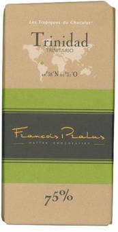 "Pralus French Chocolate - ""Trinidad - Pure Origin"" Dark Chocolate, 75% Cocoa, 100g/3.5oz. (Single)"