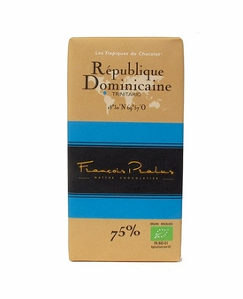 "Pralus ""Republique Dominicaine"", Trinitario - Single Origin, French Dark Chocolate, 75% Cocoa, 100g/3.5oz. (15 Pack)"