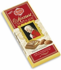 Reber Mozart Fine Almond Chocolate Bar, 100g/3.5oz.