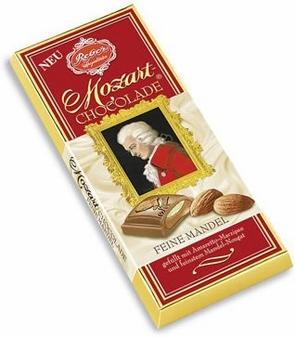 Reber Mozart Fine Almond Chocolate Bar, 100g/3.5oz. (10 Pack)