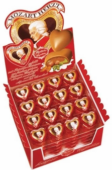 Reber Mozart Herzl / Hearts, 24 Piece Bag