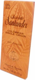 Santander 65% Dark Chocolate, Colombian Single Origin, 70g/2.46oz (Single)