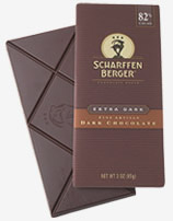"Scharffen Berger Gourmet Chocolate - ""Extra Dark Chocolate Bar"" 82% Cocoa, 85g/3.0oz (Single)."