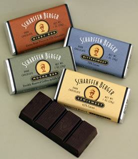 "Scharffen Berger Gourmet Chocolate - ""Semisweet Dark Chocolate Bar"" 62% Cocoa, 28g/1.0oz. (10 Pack)"