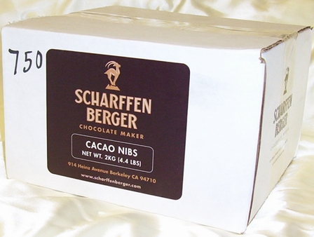 Scharffen Berger  - Roasted Cocoa Nibs Bulk Case, 2kg./4.4lb. (Single)
