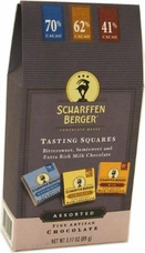 "Scharffen Berger Tasting Squares, ""Bittersweet, Semisweet and Extra Rich Milk Chocolate""; 70%, 62% and 41% Cocoa, 89g/3.17oz(Single)"