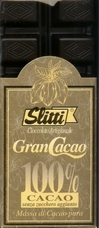 "Slitti Italian Chocolate - ""Gran Cacao"" 100% Pure Mass Of Cocoa, 100g/3.5oz. (Single)"
