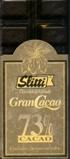 "Slitti Italian Chocolate - ""Gran Cacao"" Dark Chocolate 73% Cocoa, 100g/3.5oz (5 Pack)."