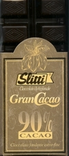 "Slitti Italian Chocolate - ""Gran Cacao"" Dark Chocolate 90% Cocoa, 100g/3.5oz. (Single)"