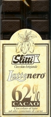 "Slitti Italian Chocolate - ""Lattenero"" Milk Chocolate 62% Cocoa, 100g/3.5oz. (Single)"