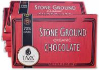 Taza 70% Stone Ground Dark Chocolate Bar, Organic, 85g/3oz (10 Pack)