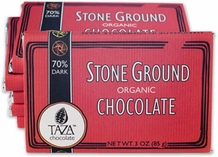 Taza 80% Stone Ground Dark Chocolate Bar, Organic, 85g/3oz  (5 Pack)