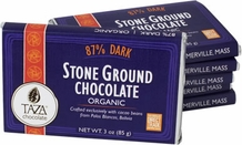 Taza 87% Stone Ground Dark Chocolate Bar, Organic, 85g/3oz  (5 Pack)