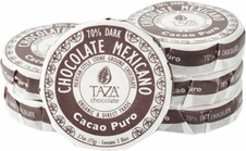 Taza Cacao Puro 70% Dark Chocolate Mexicano, Organic, 77g/2.7oz (6 Pack)