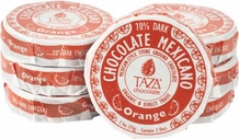 Taza Orange 70% Dark Chocolate Mexicano, Organic, 77g/2.7oz (6 Pack)