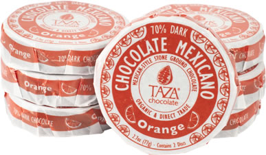 Taza Orange 70% Dark Chocolate Mexicano, Organic, 77g/2.7oz (Single)