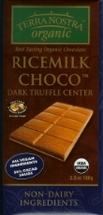 Terra Nostra Chocolate Bars - Non-Dairy with Rice Milk - 100g / 3.5oz